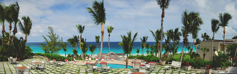 harbour island bahamas wedding: coral sands panoramic view