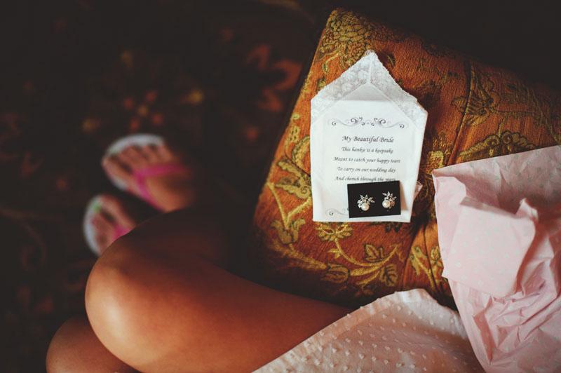 bella collina wedding: handkerchief