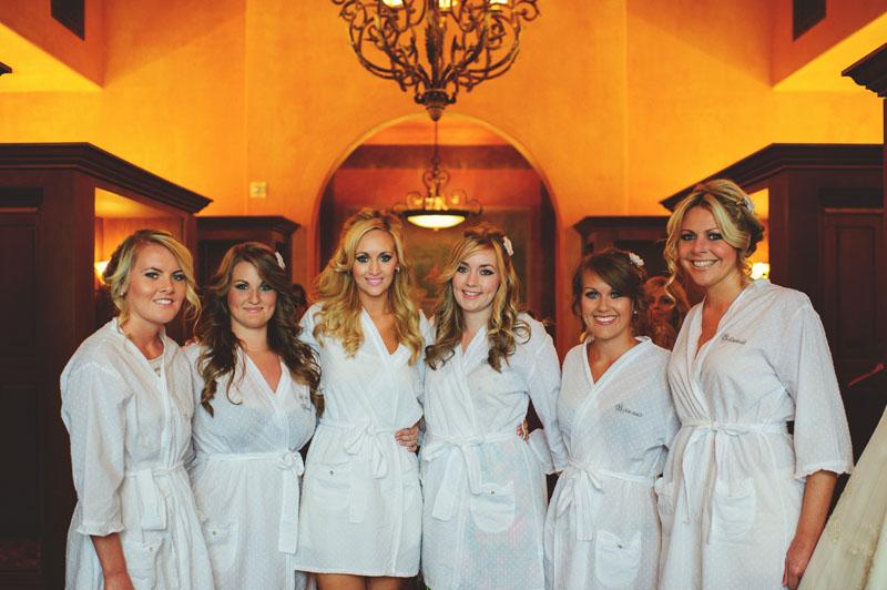 bella collina wedding: bridesmaids robes