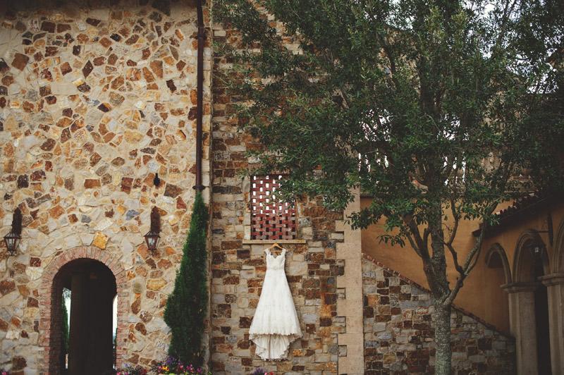bella collina wedding: dress