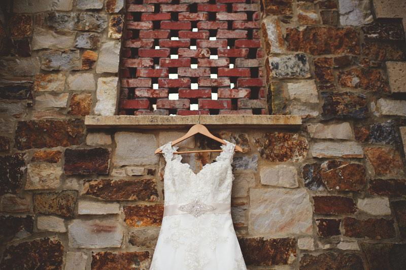 bella collina wedding: dress details
