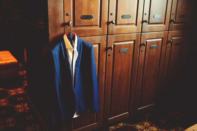bella collina wedding: grooms blue suit