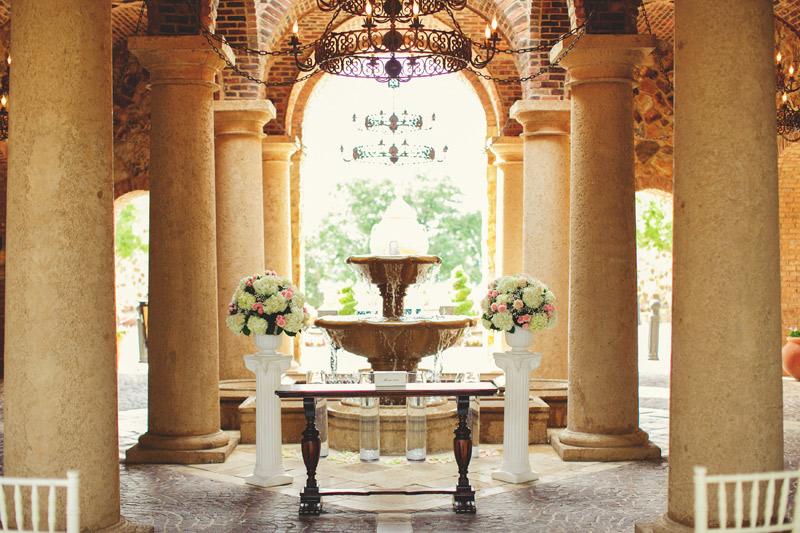 bella collina wedding: ceremony site