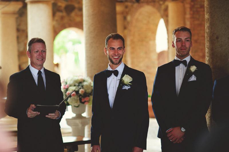 bella collina wedding: grooms expression