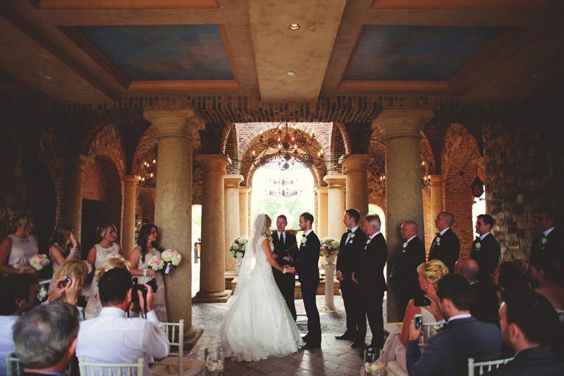 bella collina wedding: ceremony