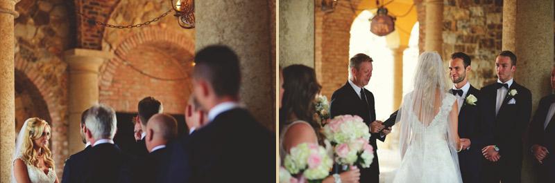 bella collina wedding: vows exchange
