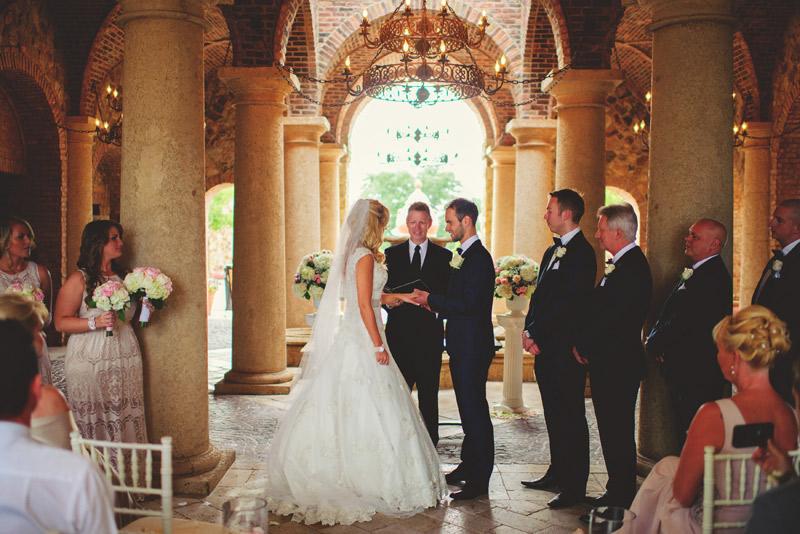 bella collina wedding: ring exchange