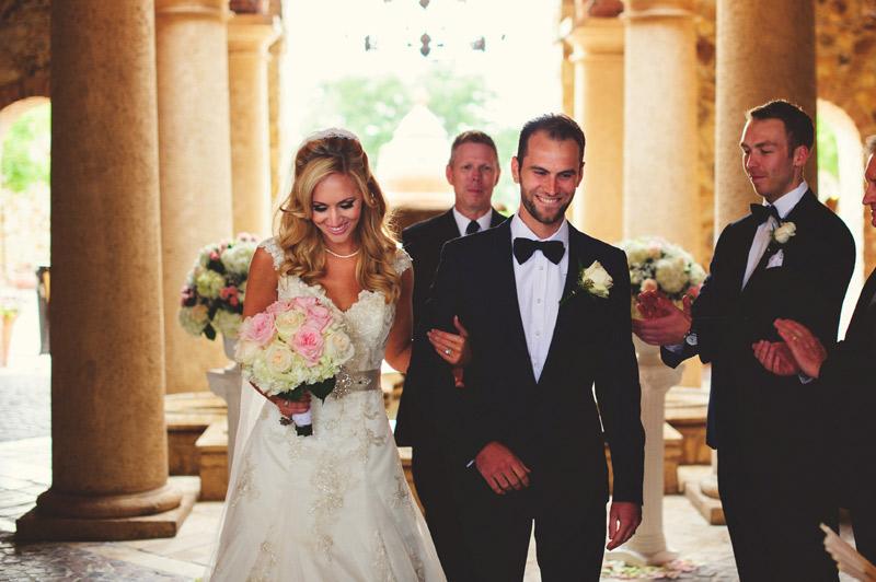 bella collina wedding: recessional
