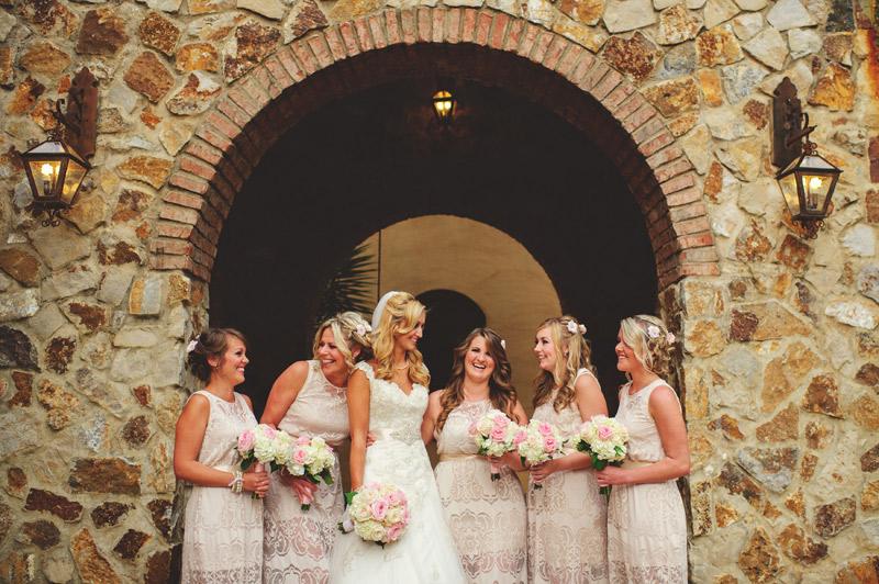 bella collina wedding: bridesmaids