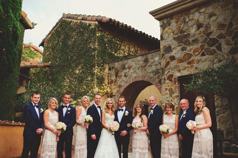 bella collina wedding: bridalparty