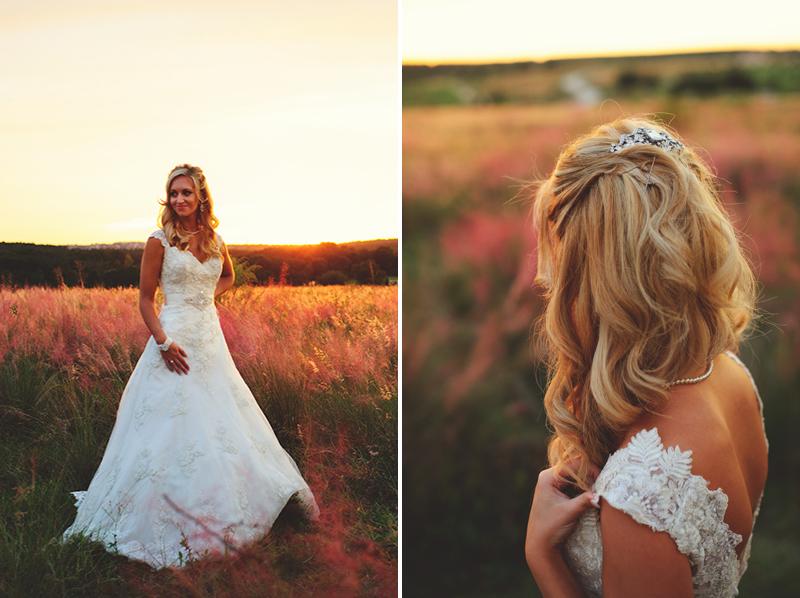 bella collina wedding: brides sunset portraits