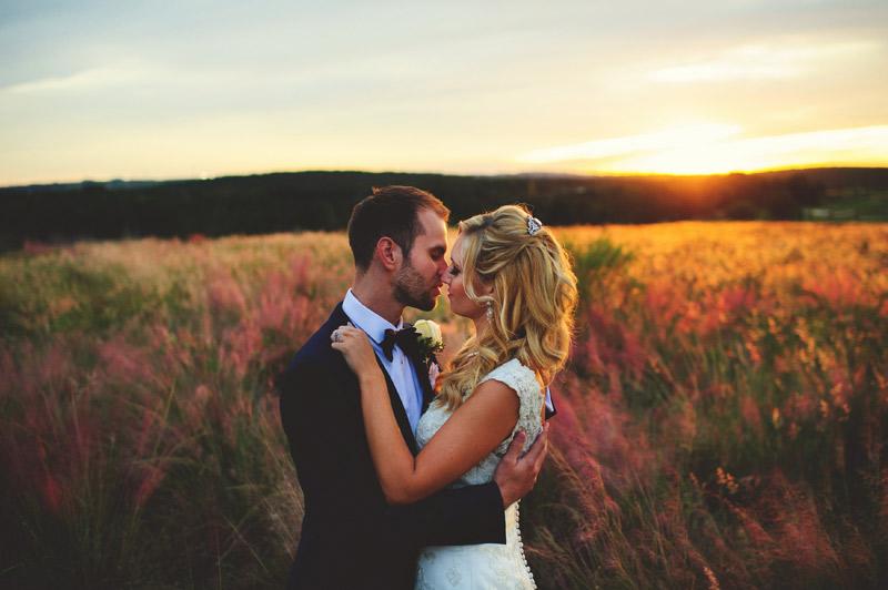 bella collina wedding: sunset portraits