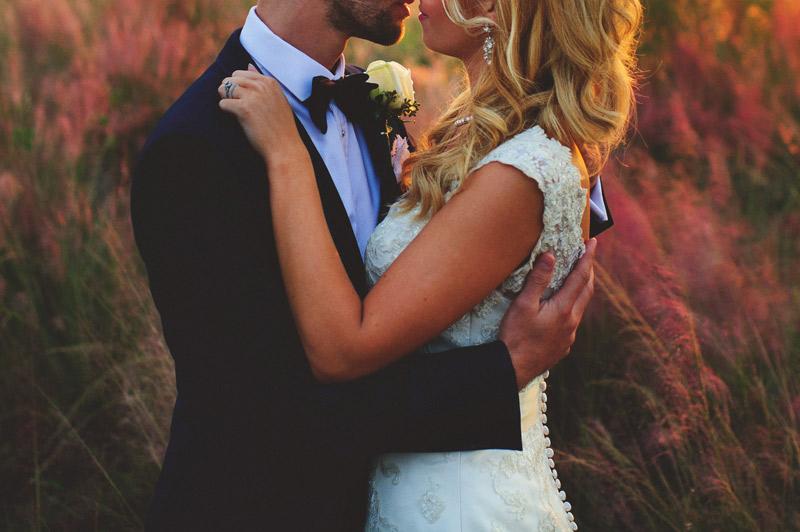 bella collina wedding: sunset photos