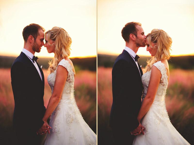 bella collina wedding: bride and groom