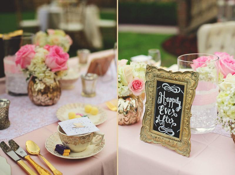 bella collina wedding: english tea and cups