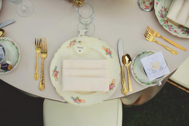 bella collina wedding: table setting
