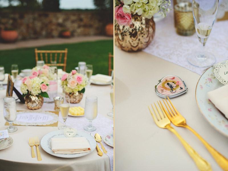 bella collina wedding: dishie rentals