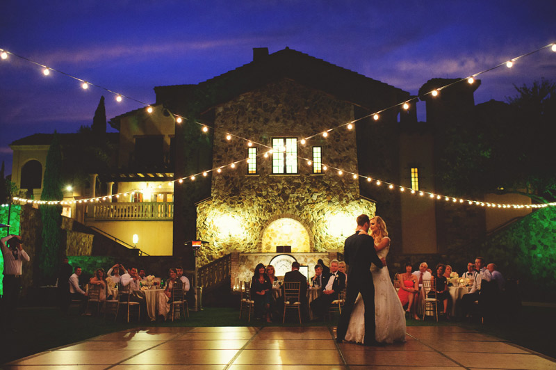 bella collina wedding: first dance