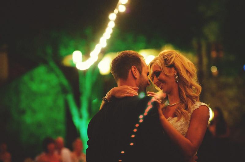 bella collina wedding: outside reception