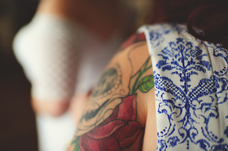 winter park farmers market wedding: tattoo and modcloth