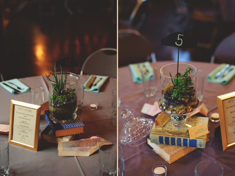 winter park farmers market wedding: travel theme terrarium
