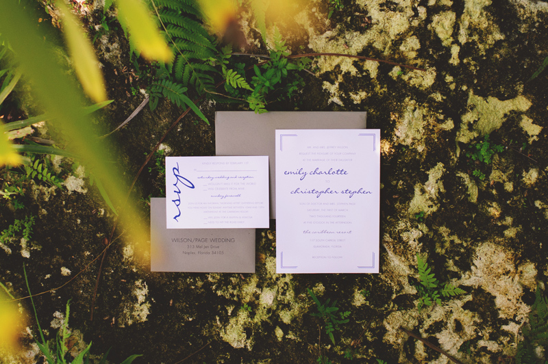 caribbean resort wedding: invitation