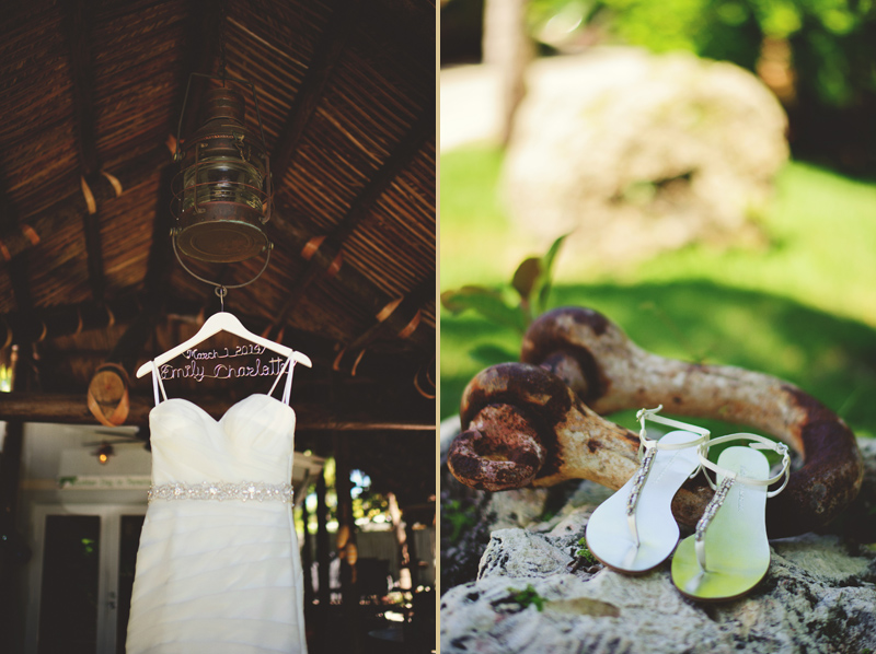 caribbean resort wedding: bride's shoes