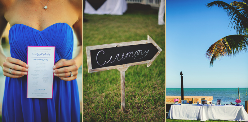 caribbean resort wedding: programs and sign