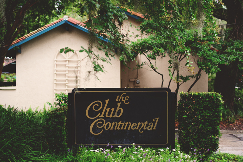 the club continental wedding: sign