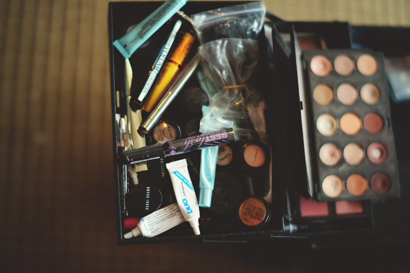 the club continental wedding: makeup case