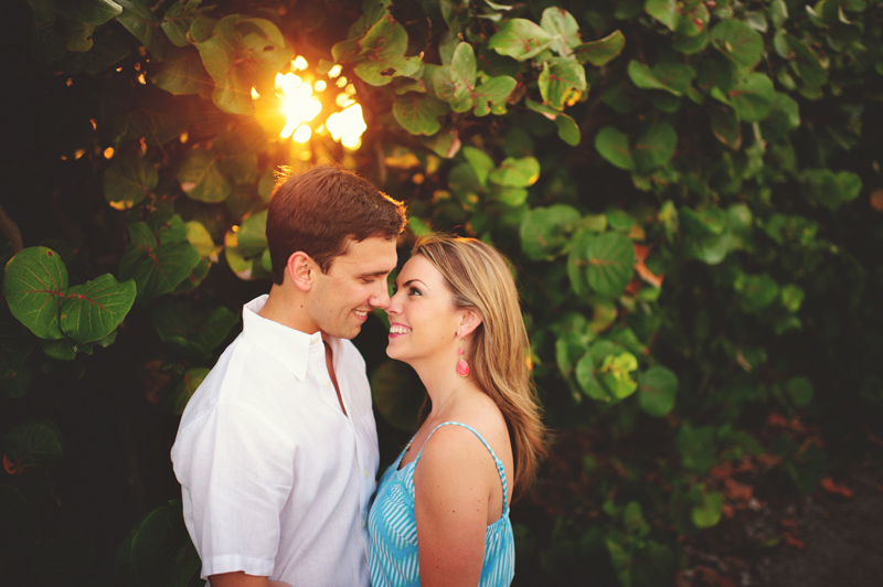 west palm beach romantic engagement photos