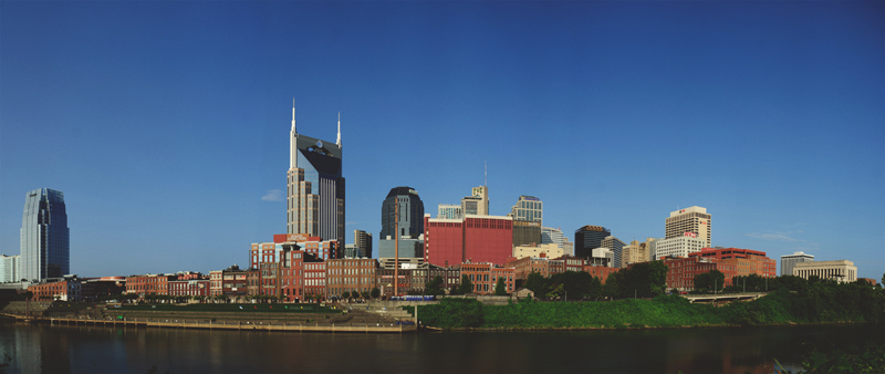 downtown nashville wedding: skyline