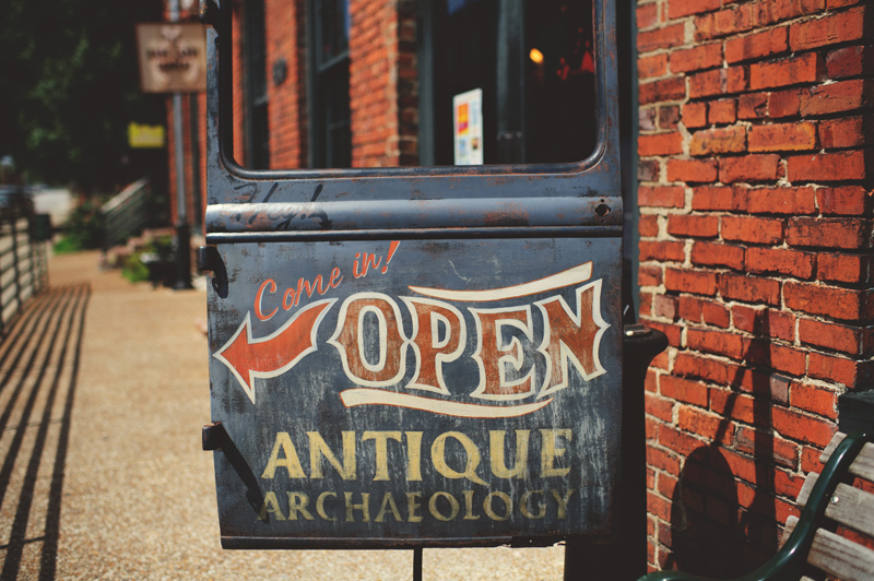 downtown nashville wedding: antique archaeology