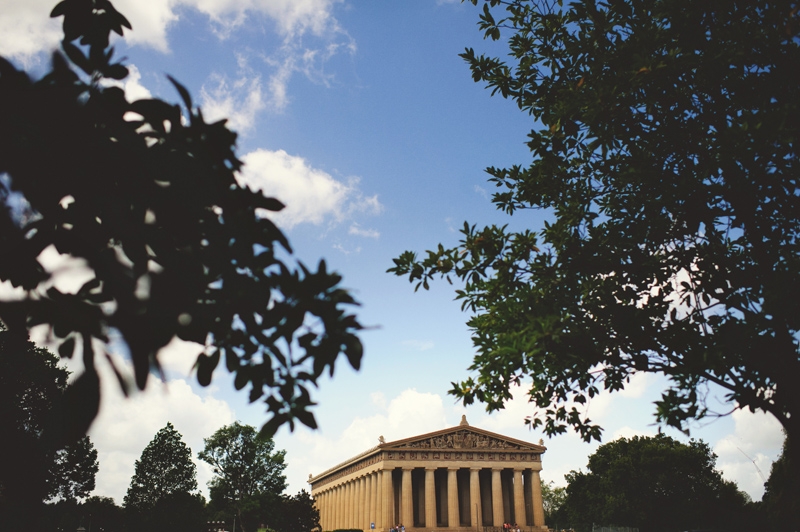 downtown nashville wedding: parthenon