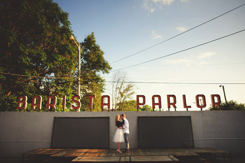 downtown nashville wedding: barista parlor