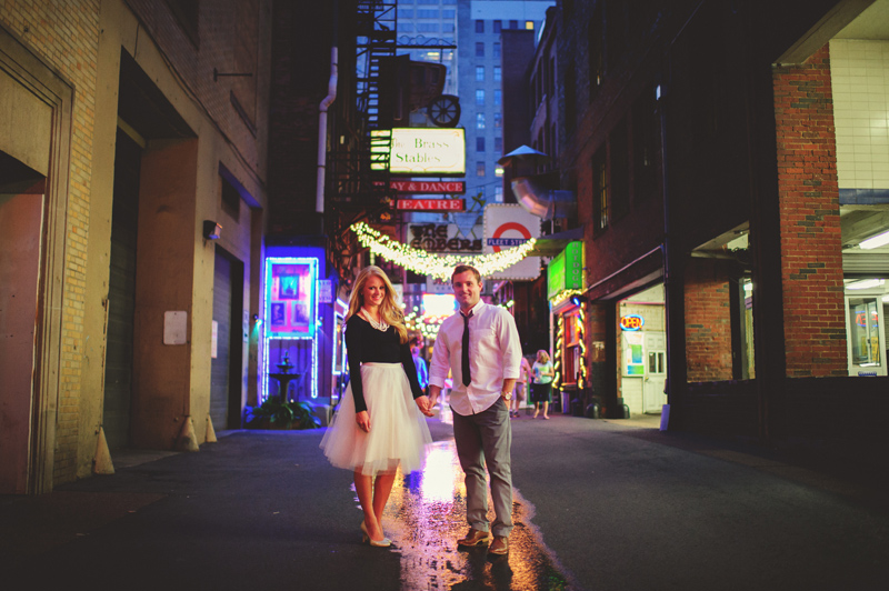 downtown nashville wedding: printers alley