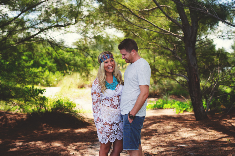 boho beach engagement photos: happy couple