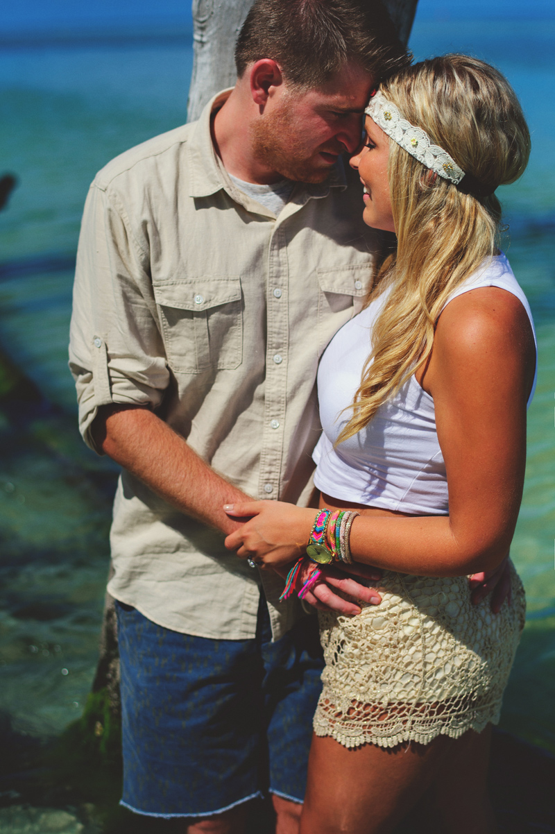 boho beach engagement photos: boho bride