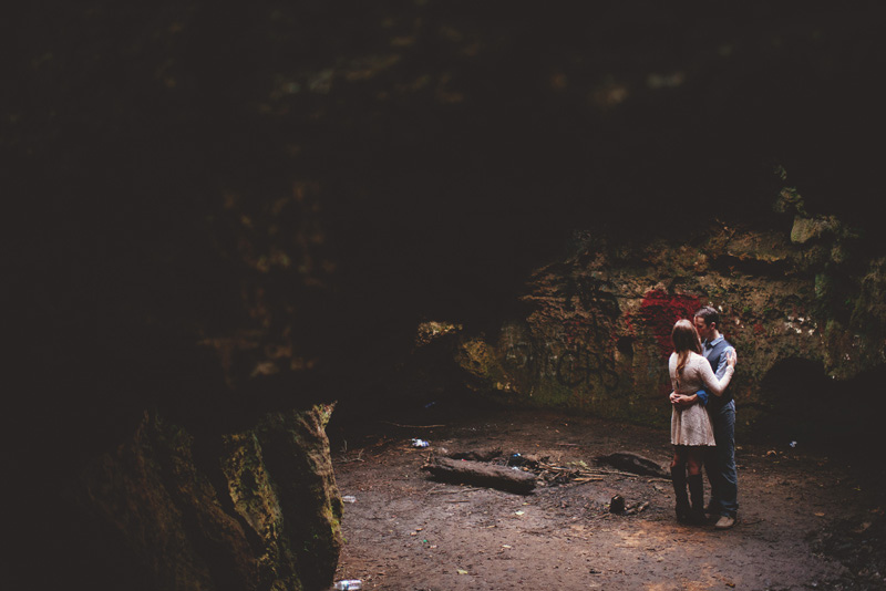 caves engagement photos