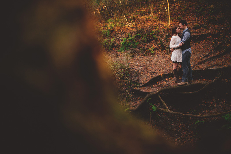 florida hiking engagement romantic photos