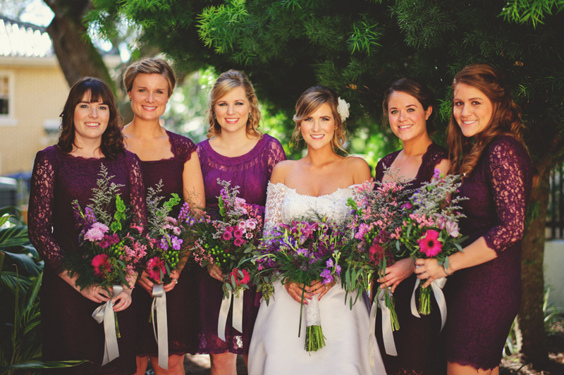 backyard wedding tampa: bridemaids
