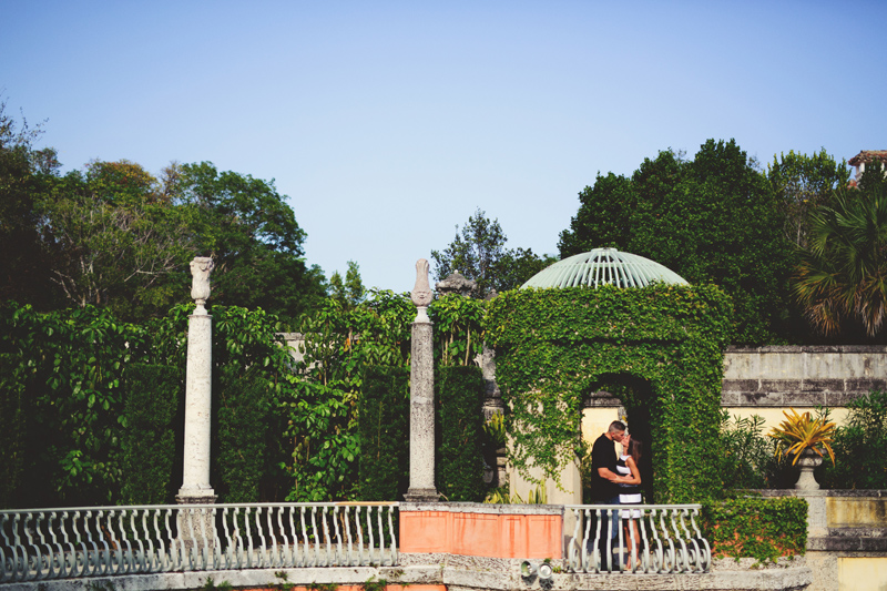 vizcaya museum engagement: walking in the garden
