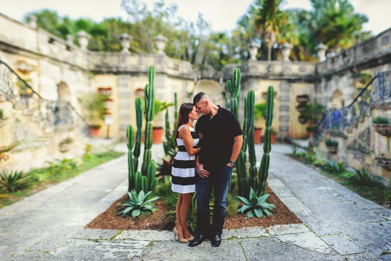 vizcaya museum engagement: cactus garden brenizer