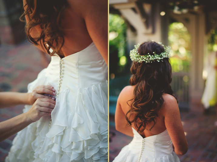 boho backyard wedding naples: flower crown