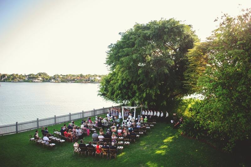 boho backyard wedding naples: ceremony