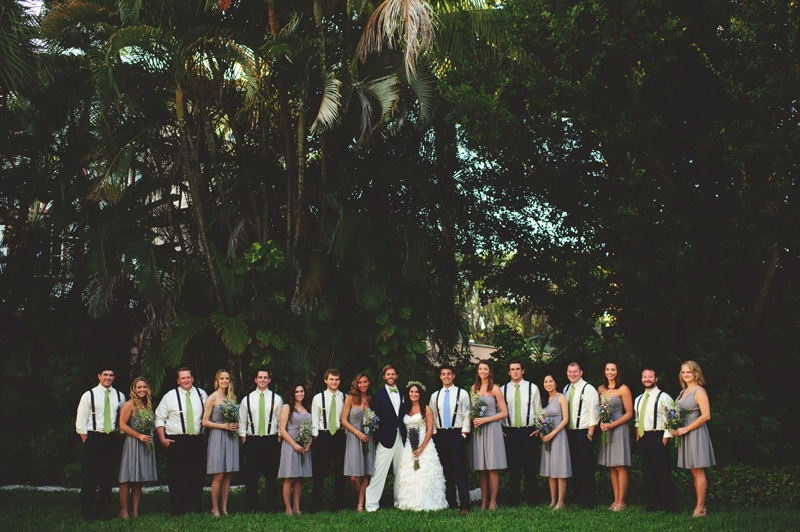 boho backyard wedding naples: bridesmaids and groomsmen