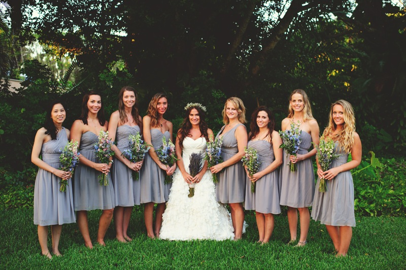 boho backyard wedding naples: bride and bridesmaids