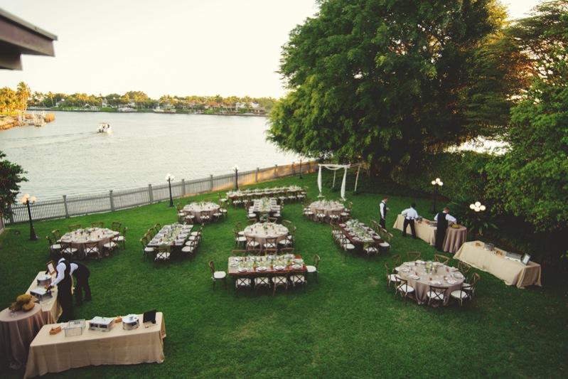 boho backyard wedding naples: reception setup