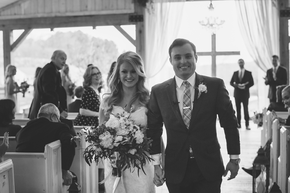 mint springs farm wedding: recessional