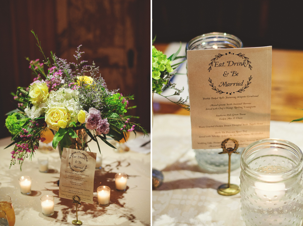 mint springs farm wedding: florals and centerpieces